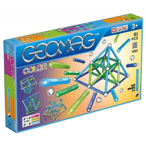 Kids Geomag 263 Magnetic Colour Construction Set 91 Pcs Playset Gift